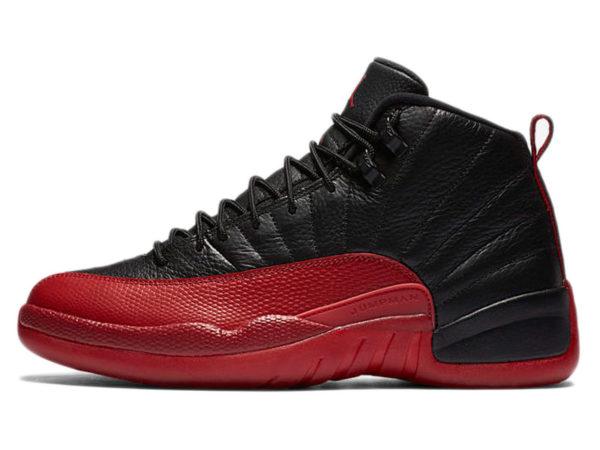 Nike Air Jordan 12 Retro черные с красным (40-46)
