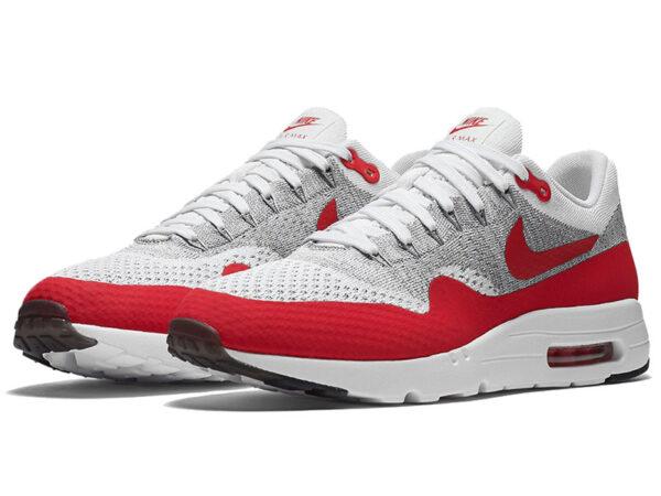 Nike Air Max 87 белые с красным (40-45)