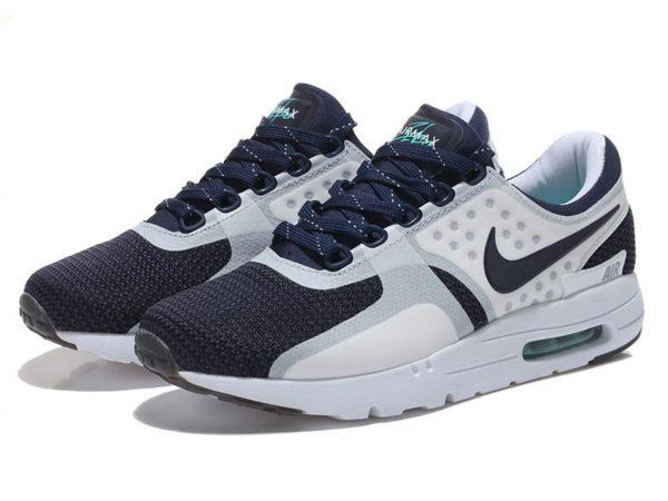 Nike Air Max 87 белые с темно-синим (40-45)