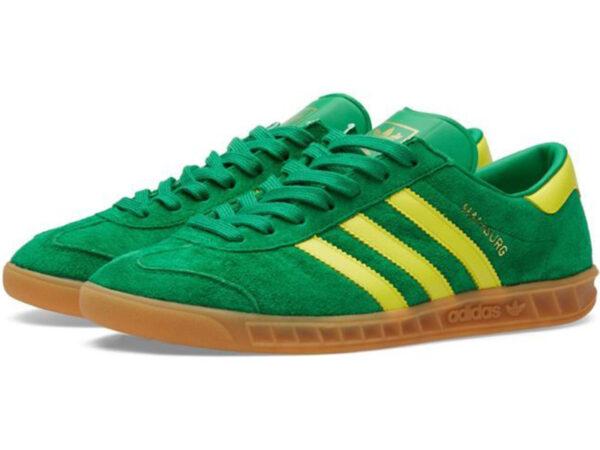 Adidas Hamburg зеленые с желтым (40-45)