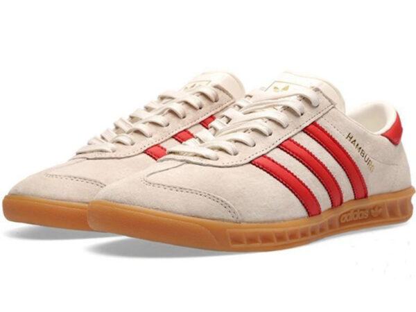 Adidas Hamburg белые с красным (40-45)