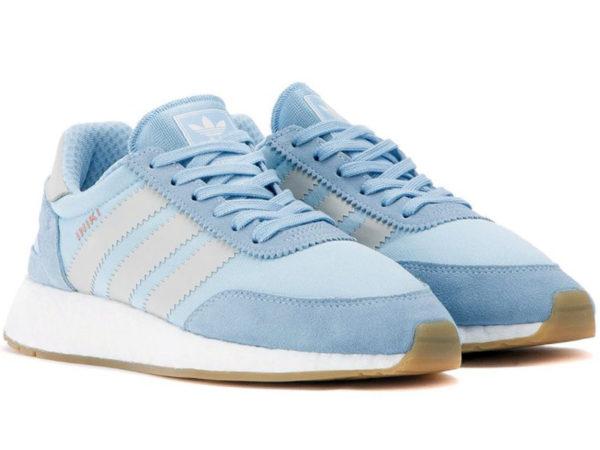 Adidas Iniki Runner Boost голубые с серым (35-40)