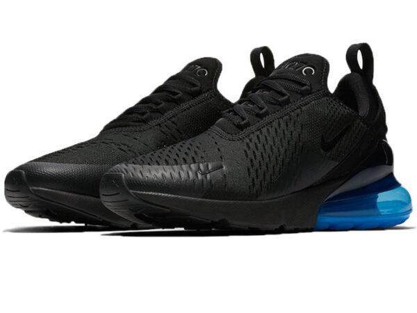 Nike Air Max 270 черные с синим (40-45)