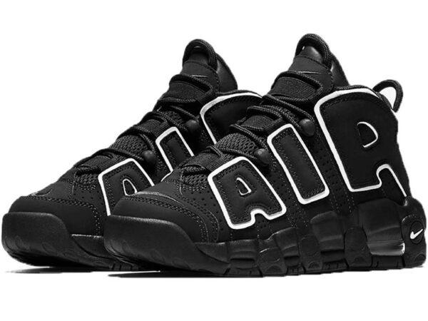 Nike Air More Uptempo черные с белым (40-46)