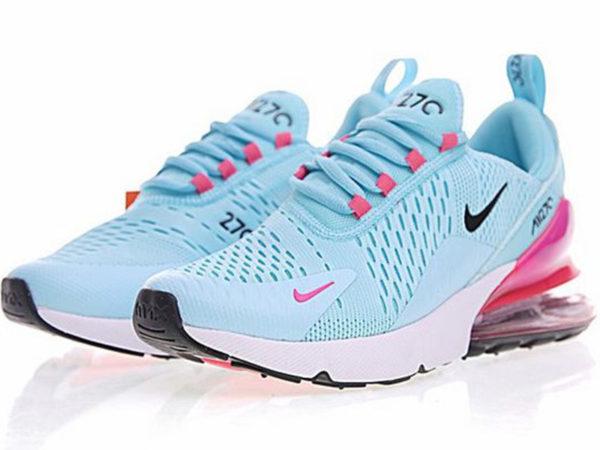 Nike Air Max 270 голубые с розовым (35-40)