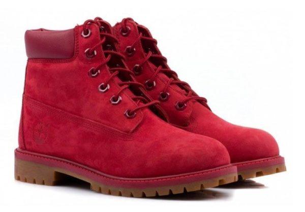 Ботинки Timberland 6 Inch Boots Red красные 35-40
