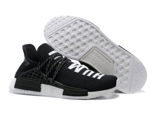 Adidas NMD Human Race черные с белым (40-44)