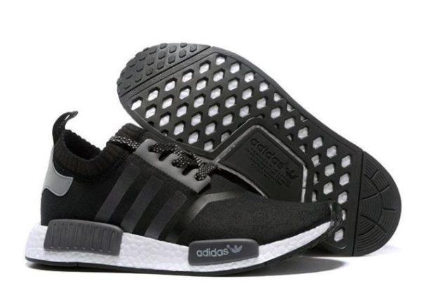 Adidas NMD Runner Primeknit черные с белым (40-44)