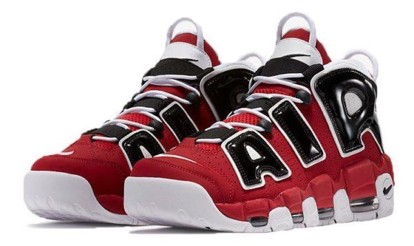 Nike Air More Uptempo красные с черным и белым 36-45