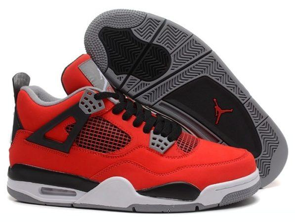 Nike Air Jordan 4 красные (40-46)
