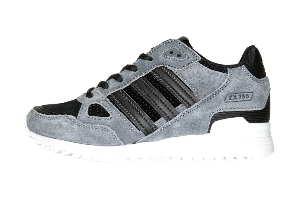 8b53b7d1 Adidas ZX 750 серые с черным (40-45) — купить в Ижевске. Дисконт ...