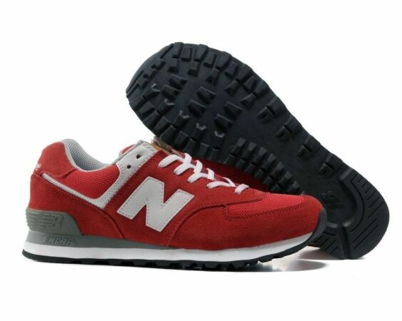 New Balance 574 красные-red (36-44)