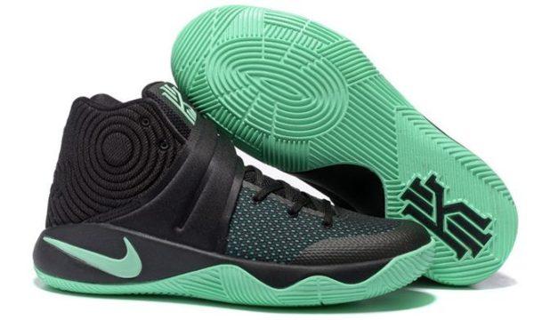 Nike Kyrie 2 Black Green черные с зеленым (40-45)