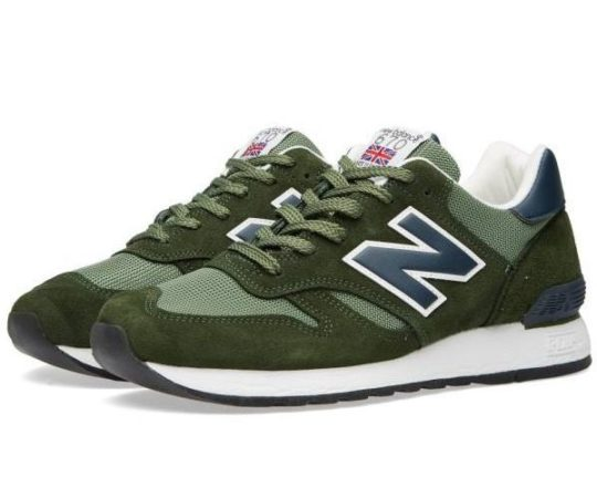 New Balance 670 замша-сетка зеленые с синим (36-44)