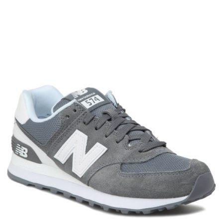 New Balance 574 замша-сетка серые с белым (36-44)