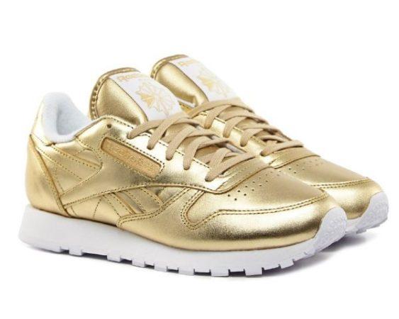Face Stockholm x Reebok Classic Leather золотые (35-39)