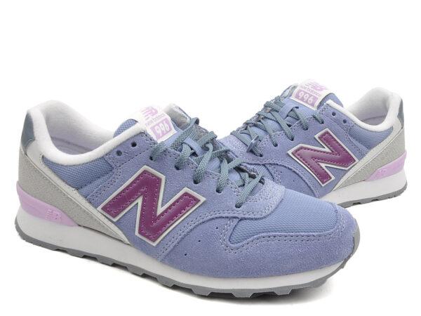 New Balance 996 замша-сетка серо-синие (35-40)