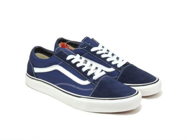 Vans blue-white темно-синие с белым (35-43)