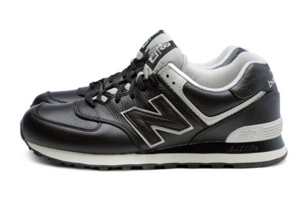 New Balance 574 черные кожаные мужские (40-45)