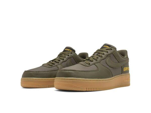 Nike Air Force 1 Low Gore-Tex зеленые кожаные мужские (40-44)