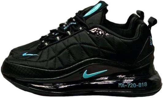 Nike Air Max 720 818 черные с зеленым мужские (40-44)