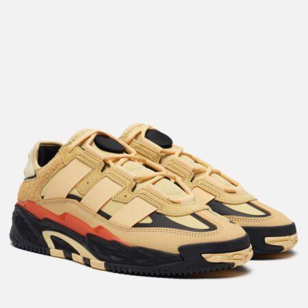 Adidas Niteball бежевые кожа-нубук мужские (40-44)