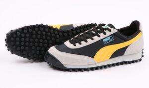 Puma Fast Rider серо-черные с желтым (40-45)